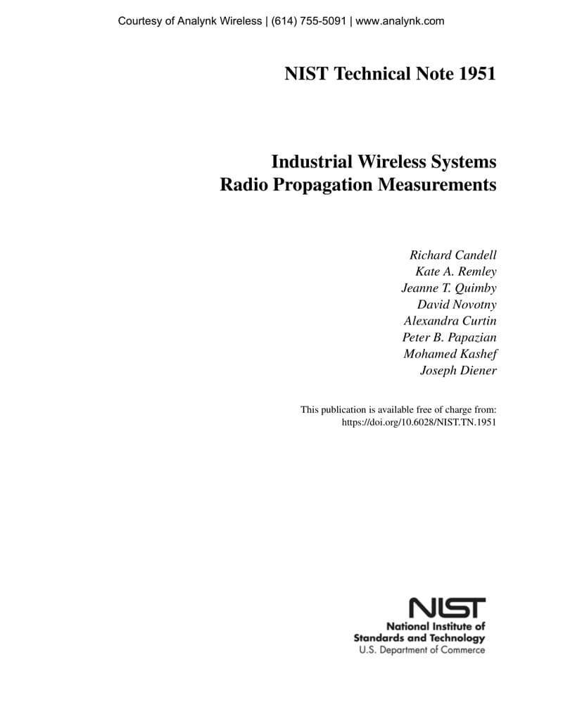 Industrial Wireless Systems Radio Propagation Measurements